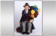 Royal Doulton Early Figure ' The Balloon Man ' HN.1954. Reg No.838448. Desi