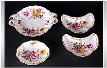 Royal Crown Derby Set of 4 Pin Dishes ' Derby Posies ' Pattern. Dates 1970-