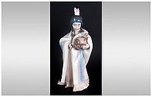 Lladro Figure 'Ceremonial Princess' model number 6424, Issued 1997, 10'' in