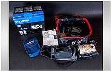 3 Miscellaneous Cameras, Olympus Metal Body Digital Camera, boxed  MJU 400,