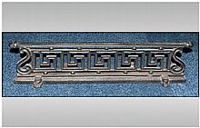 Victorian Cast Iron Fire Place Under Grill, In The Greek Key Pattern with S