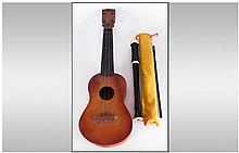 Small Miniature Guitar Made In Germany, 21'' in lenght. With recorder by Au