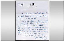 John Major/Conservative Party Politics Interest Downing Street Letter Heade