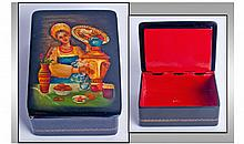 Exquisite Fine Quality Russian Lacquered Box ''Tea