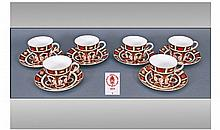 Royal Crown Derby Old Imari Pattern Set Of Six