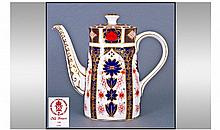 Royal Crown Derby Old Imari Pattern Coffee Pot.