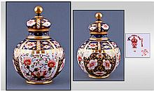 Royal Crown Derby Imari Pattern Lidded Globular