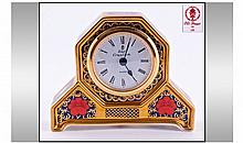 Royal Crown Derby Old Imari Pattern Desk Clock.