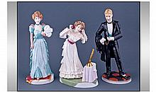 Three Royal Worcester Ceramic Figures From The