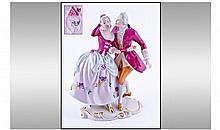 Royal Dux Figure of A Dancing Couple in