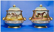 Aynsley Fine Art Collection Pair of Hand Painted
