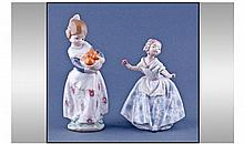 Lladro Figures, 2 In Total. 1, Teresita, model