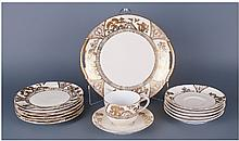 Noritake Part Tea Set, 14 Pieces In Total.