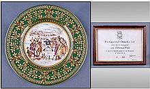 Caverswall 1979 Christmas Plate, limited edition