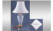 Waterford Fine Cut Crystal Belline Table Lamp.