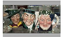 Three Royal Doulton 'Fictional' Medium Character