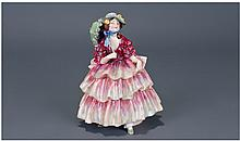 Royal Doulton Rare Figure ' The Hinged Parasol '