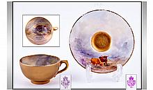 Royal Worcester Miniature Matched Hand Painted Cup