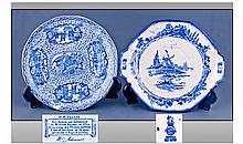 Royal Doulton Blue and White Plate 'Norfolk'