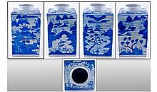 A Large 18th Century Chinese Export Blue And White