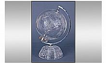 Waterford Fine Cut Crystal World Globe, with