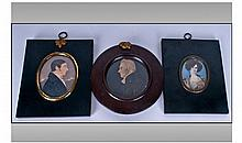 19th Century Miniature Portrait Paintings On