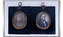 English 19th Century Miniature Portrait Paintings