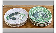 Lesley Anne China Collection Of 12 Cabinet Plates.