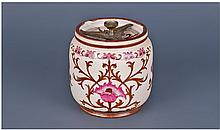 James Macintyre Lidded Biscuit Barrel. Stylish