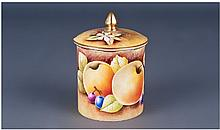 Coalport Painted Fruit Covered Jam Pot, retail