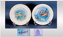 Royal Worcester Pair Of Signed And Hand Painted