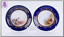 Royal Worcester Hand Painted And Signed Pair Of