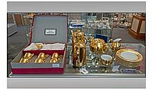 Royal Worcester Gilt Part Coffee Set comprising of