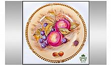 Aynsley Still Life Cabinet Plate, 10.5 inches in
