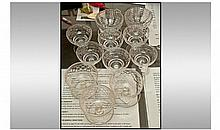 Set Of Six Small Glass Dessert Dishes. Height 3.5