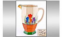 Clarice Cliff Hand Painted Jug. Crocus design.