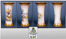 Royal Worcester Harry Davis Signed Vase. Decorated