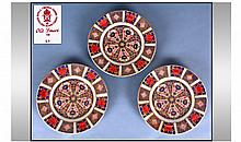 Royal Crown Derby Old Imari Pattern Set Of Three