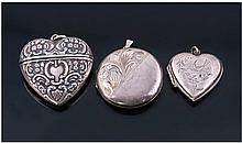 Victorian Silver Heart Shaped Pendant/Locket.