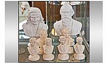 Collection Of Assorted Nelson Busts. 8 in total.