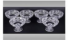 Set Of Six Sundae Dishes. Height 3.5 inches,