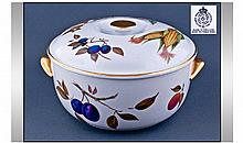 Royal Worcester 'Evesham' Lidded Tureen, circular