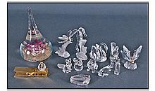 Eight Swarovski Crystal Miniatures including