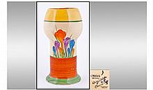 Clarice Cliff Hand Painted Vase. Crocus design.