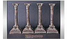 Victorian Fine Set Of Four Silver Classical