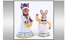 Royal Doulton - Bunnykins 1) Easter Greetings 2)