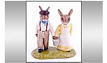 Royal Doulton - Bunnykins. Double Figure from the