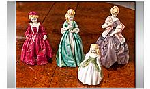 Three Royal Worcester Figures Including