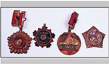 Set of Four Medals.