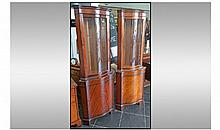 A Pair of Modern Reproduction Mahogany Veneered